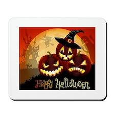 Happy Halloween Jack-O-Lanterns Mousepad