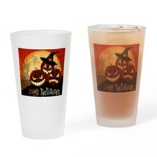 Happy Halloween Jack-O-Lanterns Drinking Glass