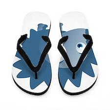 Cartoon Porcupine Flip Flops