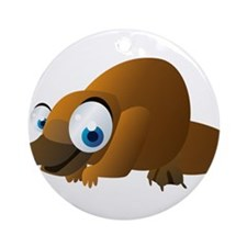 Cartoon Platypus Ornament (Round)