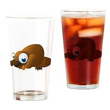 Cartoon Platypus Drinking Glass