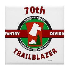 70th Infantry Division TrailBlazer Tile Coaster