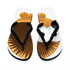 Cute Cartoon Porcupine Flip Flops