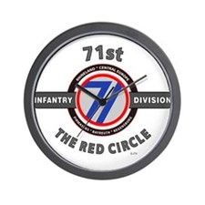 71st Infantry Division The Red Circle Wall Clock