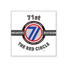 71st Infantry Division The Red Circle Sticker