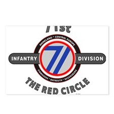 71st Infantry Division The Red Circle Postcards (P