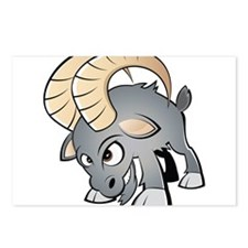 Cartoon Ram Postcards (Package of 8)