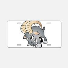 Cartoon Ram Aluminum License Plate