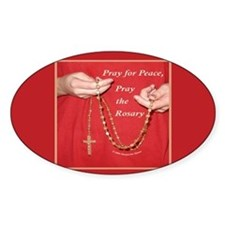 Pray Rosary Oval Decal