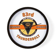 83rd Infantry Division Thunderbolt Wall Clock