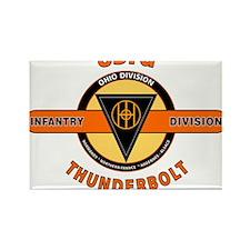 83rd Infantry Division Thunderbolt Rectangle Magne