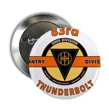 """83rd Infantry Division Thunderbolt 2.25"""" Button"""