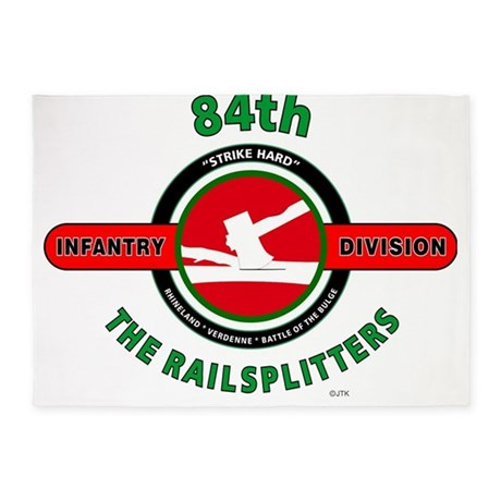 84th Infantry Division The Railsplitters 5'x7'Area