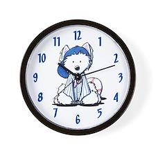 Westie Terrier Fan Wall Clock