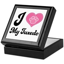 I Heart My Tuxedo Cat Keepsake Box