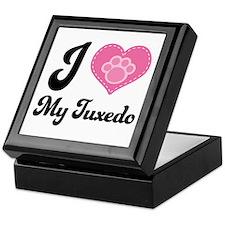 I Heart My Tuxedo Cat Keepsake Box