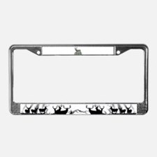 Wyoming buck License Plate Frame