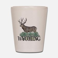 Wyoming buck Shot Glass
