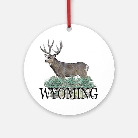 Wyoming buck Ornament (Round)