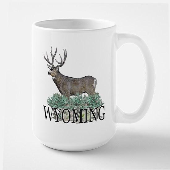 Wyoming buck Large Mug