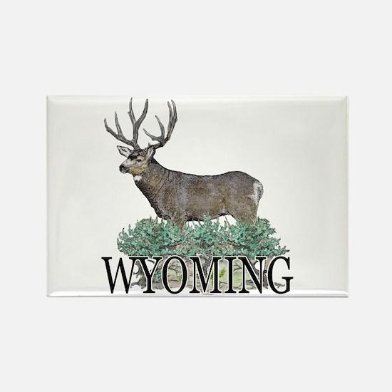 Wyoming buck Rectangle Magnet