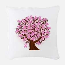 The Tree of Life...Breast Cancer Woven Throw Pillo