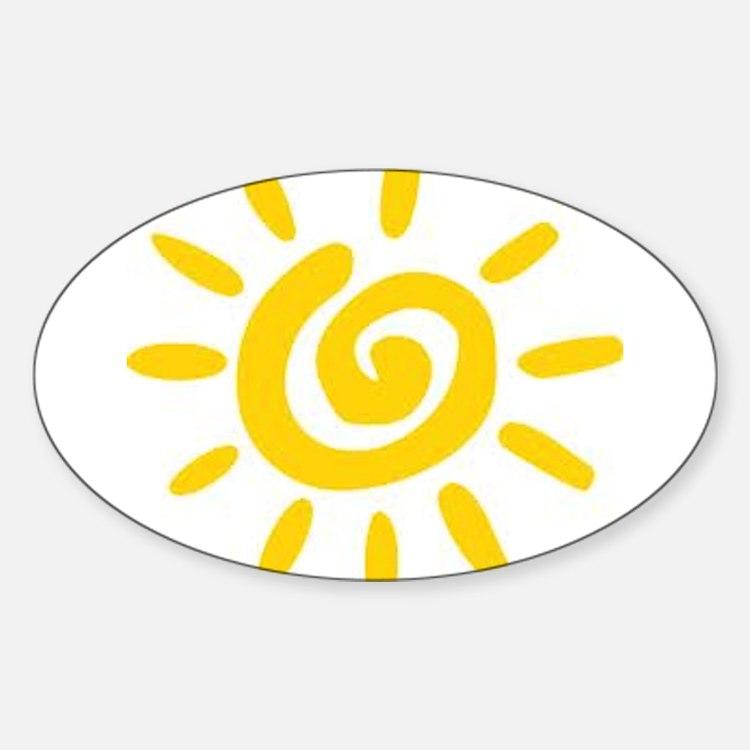 Sunshine Sticker (Oval)
