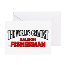 """The World's Greatest Salmon Fisherman"" Greeting C"