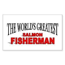 """The World's Greatest Salmon Fisherman"" Decal"