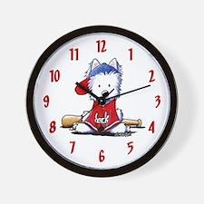 Westie Diamond In The Ruff Wall Clock