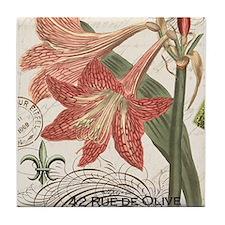 modern vintage winter garden amaryllis Tile Coaste