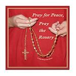 Pray Rosary Tile Coaster