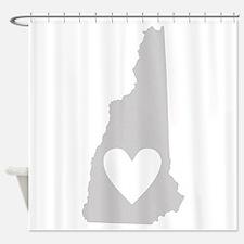 Heart New Hampshire Shower Curtain