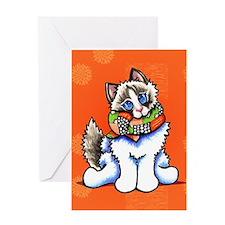 Ragdoll Scarf Greeting Card