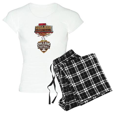 College basketball VS. college football Pajamas
