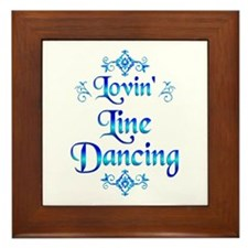 Lovin Line Dancing Framed Tile