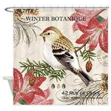 modern vintage winter garden bird and amaryllis Sh