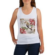 modern vintage winter garden bird and amaryllis Ta