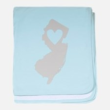 Heart New Jersey baby blanket
