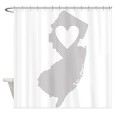 Heart New Jersey Shower Curtain