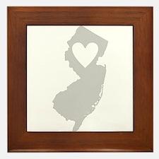 Heart New Jersey Framed Tile