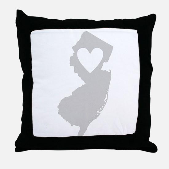 Heart New Jersey Throw Pillow