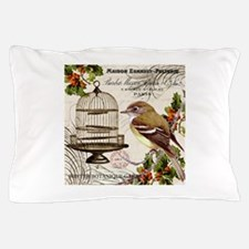 modern vintage winter garden bird and birdcage Pil