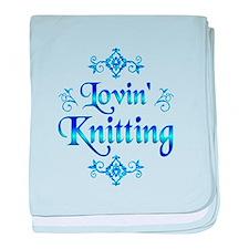 Lovin Knitting baby blanket