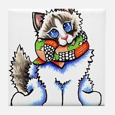 Ragdoll Scarf Tile Coaster