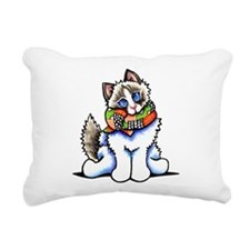 Ragdoll Scarf Rectangular Canvas Pillow