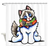 Ragdoll cat Shower Curtains