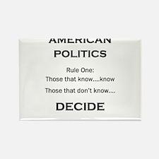 American Politics Rectangle Magnet