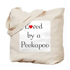 Loved by a Peekapoo Tote Bag