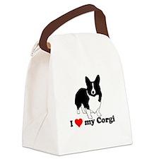 I love my Corgi Canvas Lunch Bag